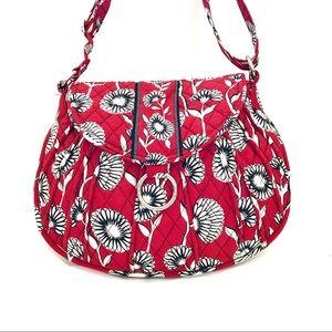 Red/Black Floral Vera Bradley Shoulder handbag